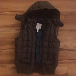 American Eagle Brown puffy vest